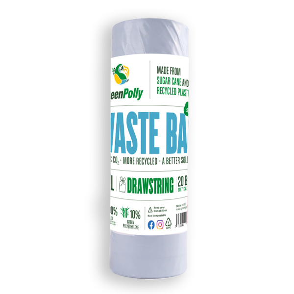 GreenPolly Waste Bag 50 L Blue – Drawstring
