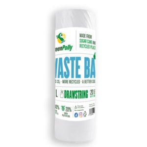 GreenPolly Waste Bag 50 L Transparent – Drawstring